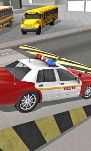 Polícia da cidade dirigindo o simulador de carro 4