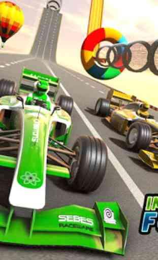 Fórmula carro acrobacias corrida: rampa carro 1