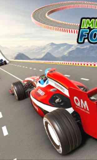 Fórmula carro acrobacias corrida: rampa carro 2