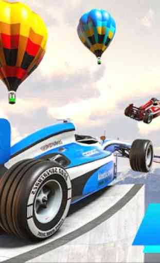 Fórmula carro acrobacias corrida: rampa carro 3