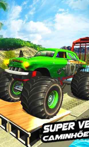 Mega Rampa Monster Truck Jogos de Corrida 1