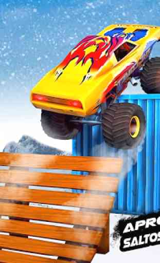 Mega Rampa Monster Truck Jogos de Corrida 2