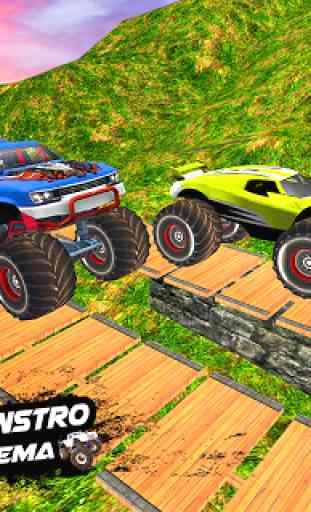 Mega Rampa Monster Truck Jogos de Corrida 3