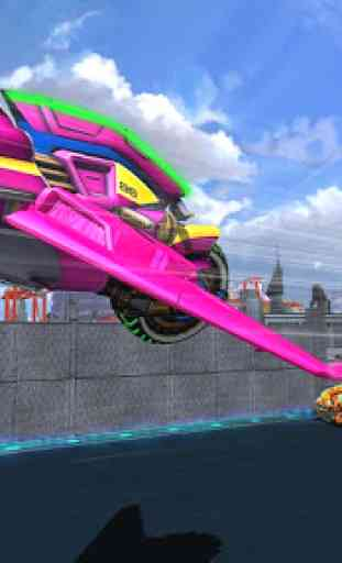 Bicicleta de luz voando stunt simulador de corrida 2