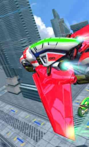 Bicicleta de luz voando stunt simulador de corrida 4