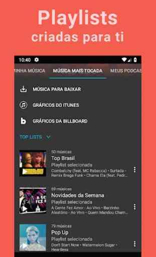 Baixar músicas grátis; YouTube Músicas Player; MP3 4
