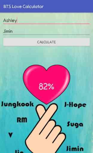 BTS Love Calculator 3