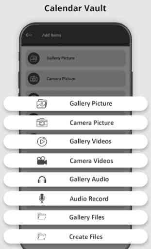 Calendar Vault – Photo Video Audio Locker 2