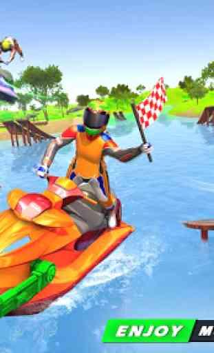 Jogos de corrida em jet ski: tiro de barco 1