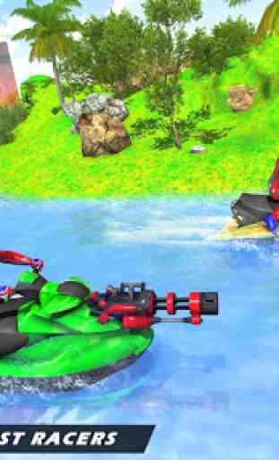 Jogos de corrida em jet ski: tiro de barco 2