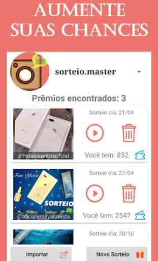 Sorteio Master 2