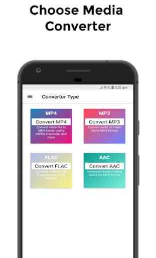 Media Converter - MP4, MP3, AAC, FLAC Converter 1