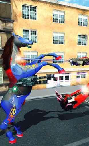 Multi Robot Transforming : Wild Horse Police Car 2