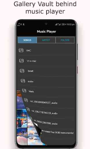 Hide photo,video and audio:Music Player Vault 1