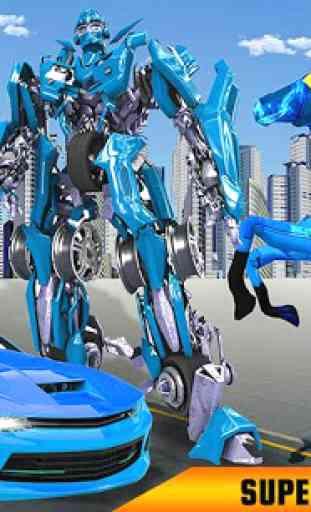 US Polícia robô cavalo transformação: carro robô 2