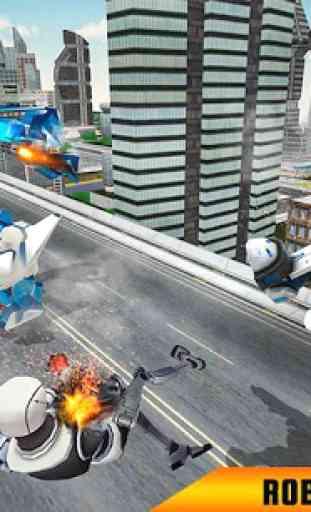 US Polícia robô cavalo transformação: carro robô 4