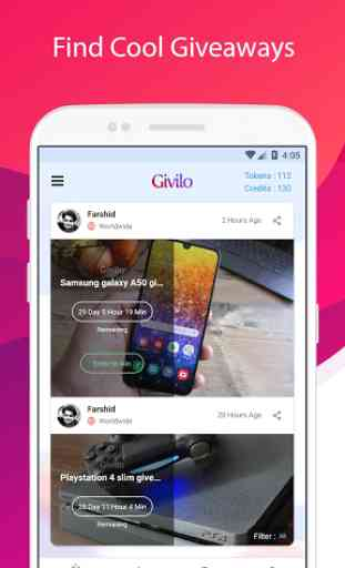 Givilo - Win Free Giveaways & Gift Cards 2