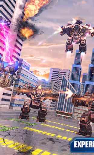 Air Robot Transform Helicopter Robot Battle War 1