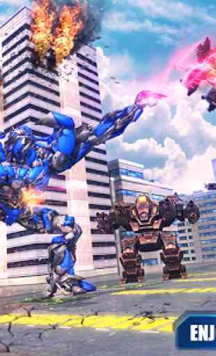 Air Robot Transform Helicopter Robot Battle War 2