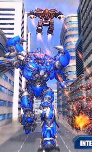 Air Robot Transform Helicopter Robot Battle War 4